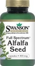 SWANSON FULL SPECTRUM ALFALFA 400MG 60KAP.