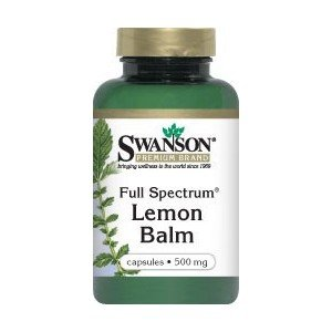 SWANSON FULL SPECTRUM LEMON BALM 500MG 60K