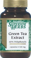 SWANSON GREEN TEA EXTRACT 500MG 60KAP.