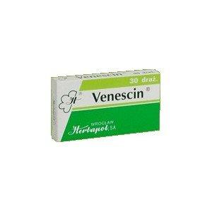 Venescin draż. 0,025g+0,015g+0,5mg 30draż.