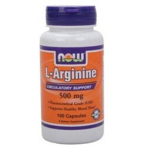 L- ARGININE 500mg 100 kaps NOW Foods