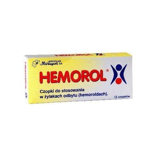 Hemorol czop.doodbyt. 12 czop. (2x6szt.)