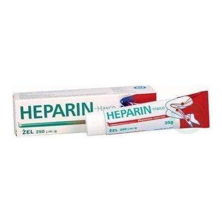 Heparin Hasco żel 250 j.m./g 35 g