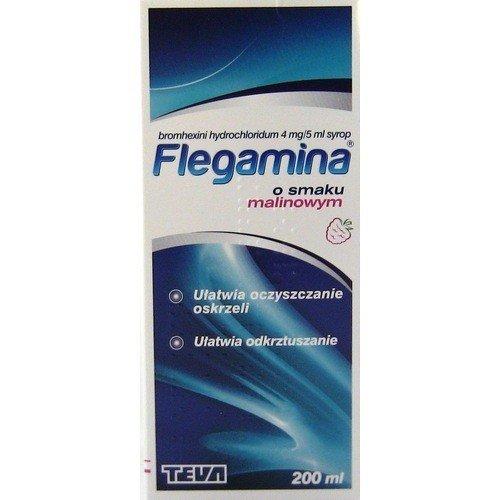 Flegamina Malinowa syr. 4mg/5ml 200ml