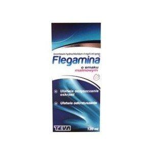 FLEGAMINA syrop malinowy 120ml 4mg/5ml