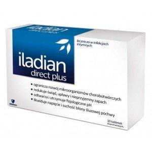 Iladian Direct Plus tabletki dopochwowe 10 tab