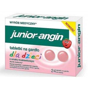 Junior-angin na gardło dla dzieci truskawka