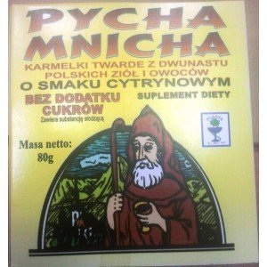 Karmelki PYCHA MNICHA o smaku cytrynowym 80g