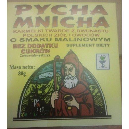 Karmelki PYCHA MNICHA o smaku malinowym 80g