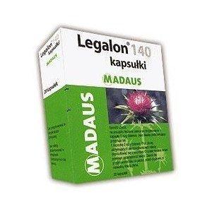 Legalon 140 kaps.twarde 0,14 g 20 kaps.