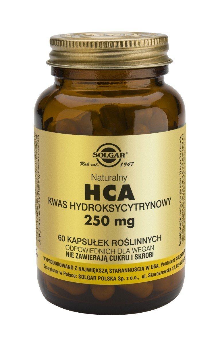 HCA Naturalny Kwas Hydroksycytrynowy 250 mg SOLGAR