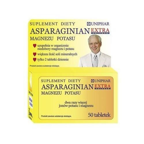 Asparginian Magnezu Potasu Uniphar Extra 50 tabl