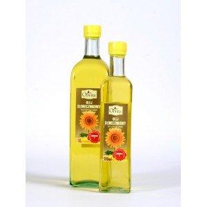 Olej słonecznikowy tłoczony na zimno nieoczyszczony 1000 ml
