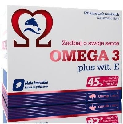 OLIMP OMEGA 3 PLUS WIT. E 45% KW.TŁUSZCZ.