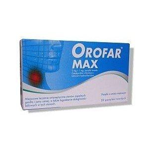 Orofar MAX pastyl.twarde 2mg+1mg 20pastyl.