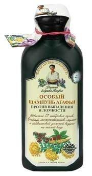 Specjalny szampon Agafii przeciwko wypadaniu i łamliwości włosów 350ml.