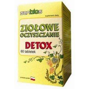 Ziołowe Oczyszczanie DETOX tabl. 60 SANBIOS