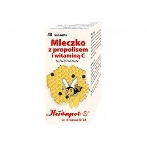 Mleczko z propolisem i witaminą C 30 kapsułek
