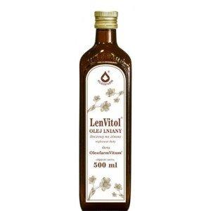 Olej lniany do diety dr Budwig 500 ml Oleofarm