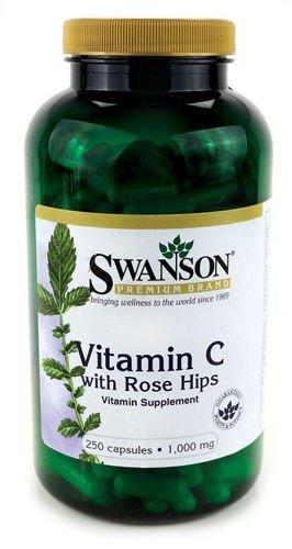 Swanson Witamina C 1000 z dziką różą o przedłużonym działaniu 250 tabl.