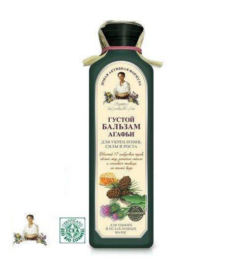 Gęsty Ziołowy Balsam do włosów na zamrożonej wodzie, Wzmacniający 350ml.