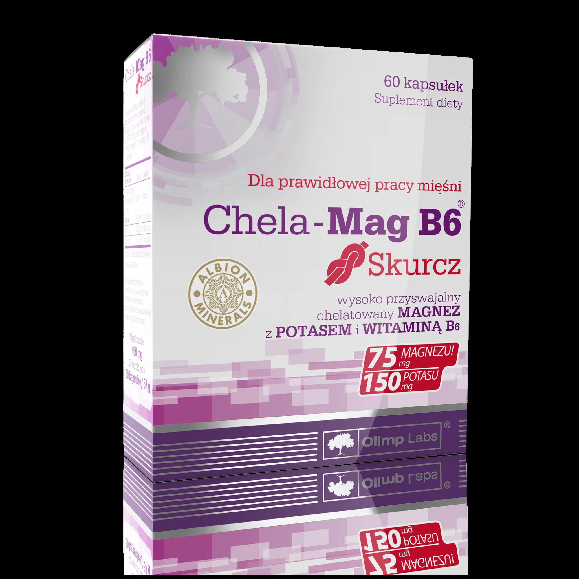 Olimp Chela-Mag B6 Skurcz kaps. 60kaps.(bl