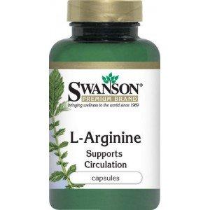 SWANSON L-ARGININE 100kaps 500 mg