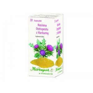 Nasiona ostropestu z kurkumą 30 kapsułek - Herbapol Krak.
