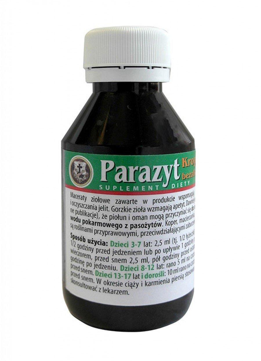 PARAZYT Krople 100ml - pasożyty, bakterie i grzyby