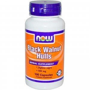 Black Walnut Hulls (Czarny orzech)500mg. 100kaps NOW FOOD'S