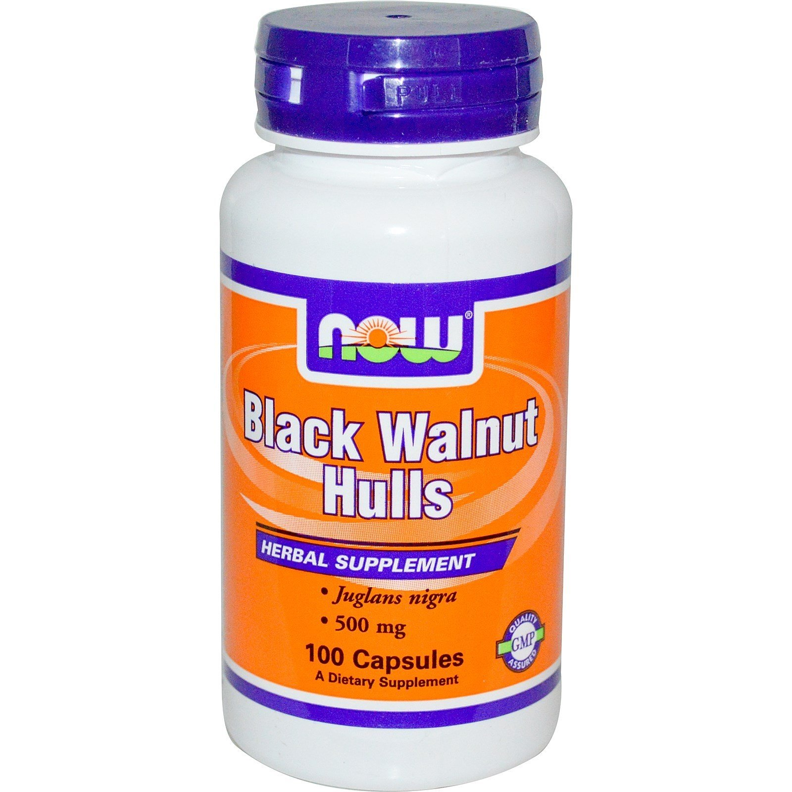 Black Walnut Hulls (Czarny orzech)500mg. 100kaps NOW FOOD'S