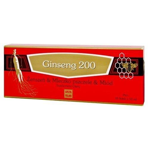 Ginseng 200 Żeńszeń & Mleczko pszczele & Miód 10 x 10ml