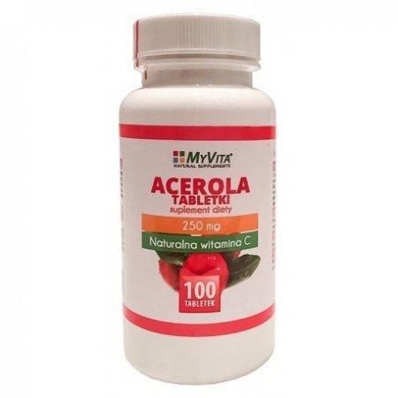 Acerola 250 mg. 100 tabl. My Vita