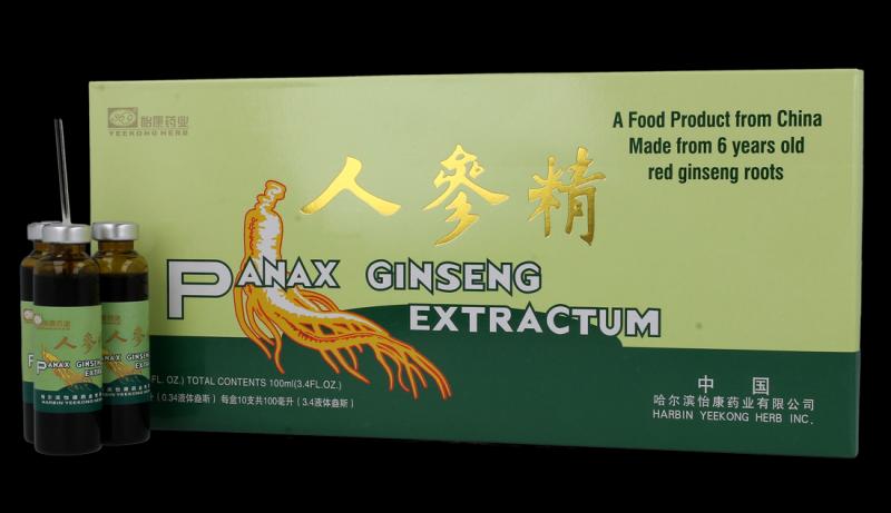 Żeń-szeń Panax Ginseng Extractum 10x10 ml 2500 mg.