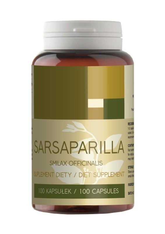 Sarsaparilla 400mg. 100kaps.