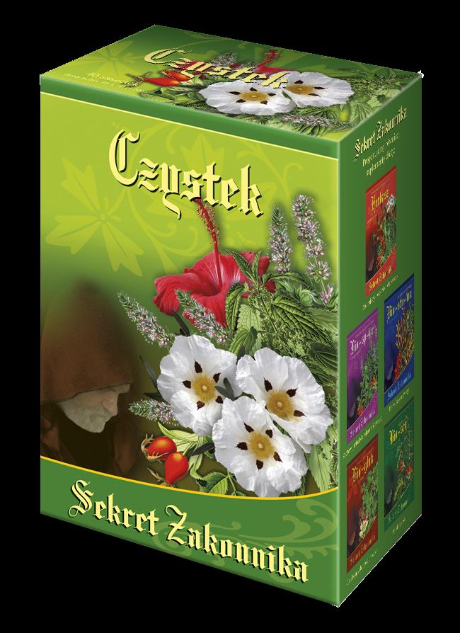 Czystek, Sekret Zakonnika - herbatka odmładzająca i przeciwprzeziębieniowa 40 saszetek