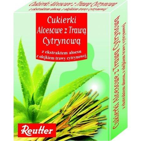 Cukierki aloesowe z trawą cytrynową 50G  Reutter