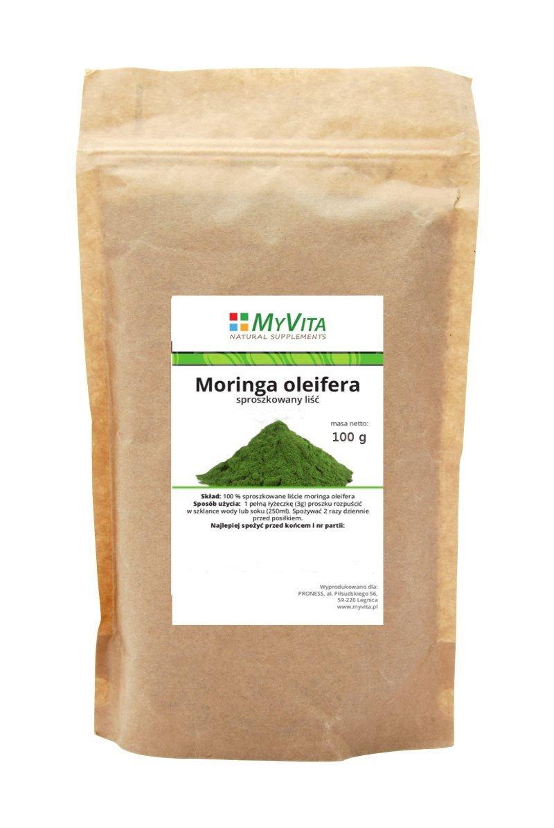 Moringa Oleifera sproszkowany liść 100g MyVita