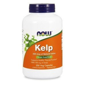 NOW Kelp 325 mcg 250 tabletek źródło jodu
