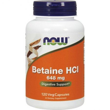 Betaine HCL 648mg 120kap.