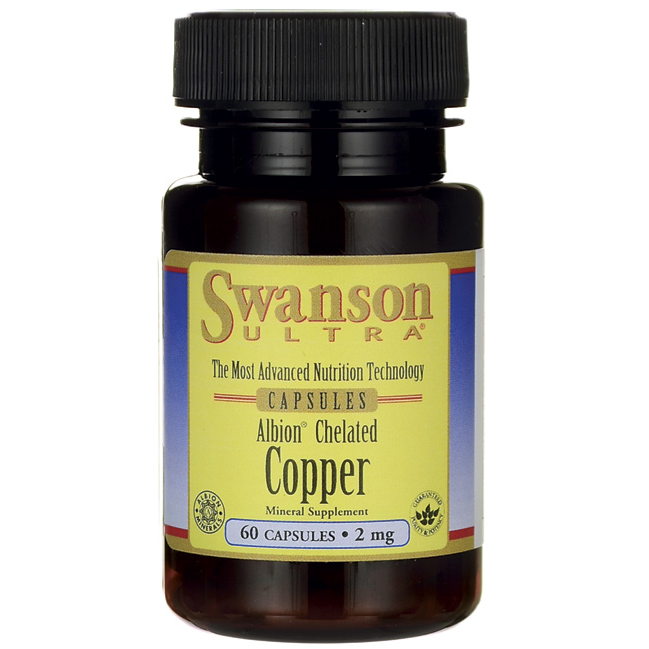 Swanson Albion Chelated Copper 60kap. 2mg
