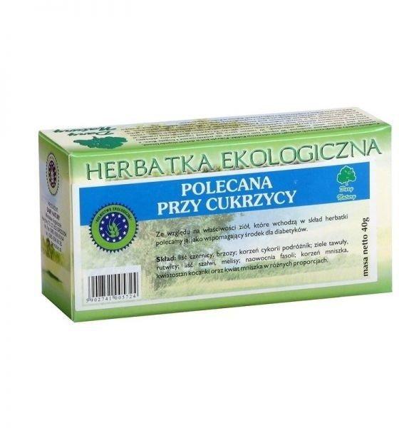 Herbatka Polecana Przy Cukrzycy Eko ( 20x2g) Dary Natury