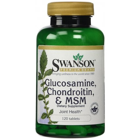 SWANSON Glucosamine Chondroitin MSM,250/200/150mg, 120 tabl. (Glukozamina)