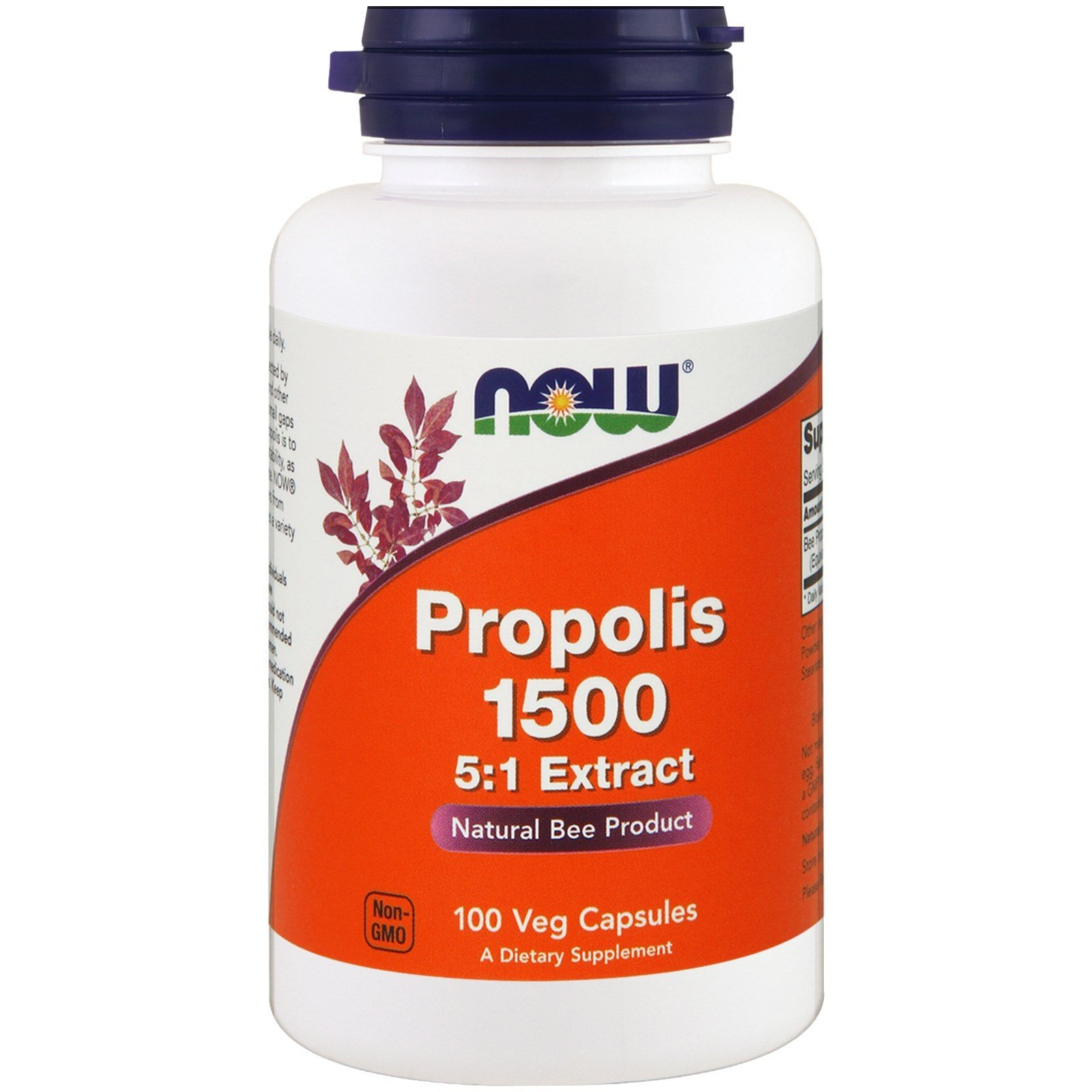 NOW FOODS Propolis 1500mg - 100 kap.