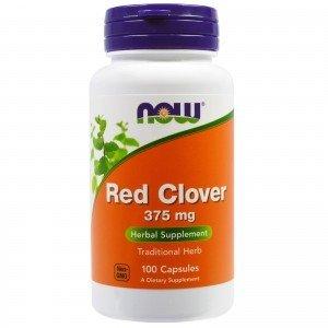 NOW FOODS Red Clover Czerwona koniczyna 375mg 100kap