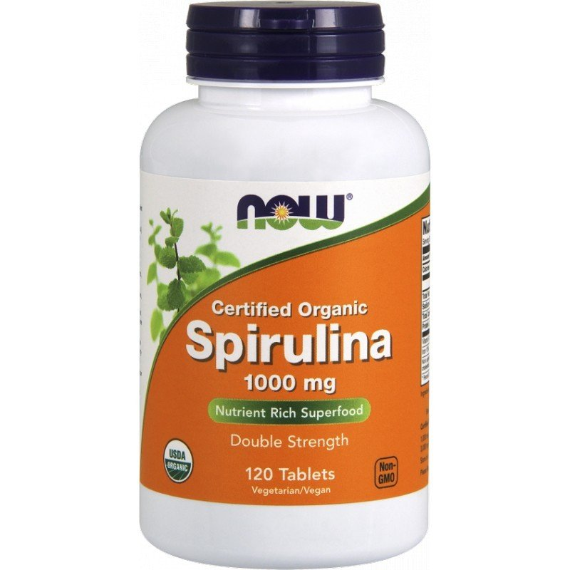 NOW FOODS Spirulina Organic 1000 mg 120 tabl