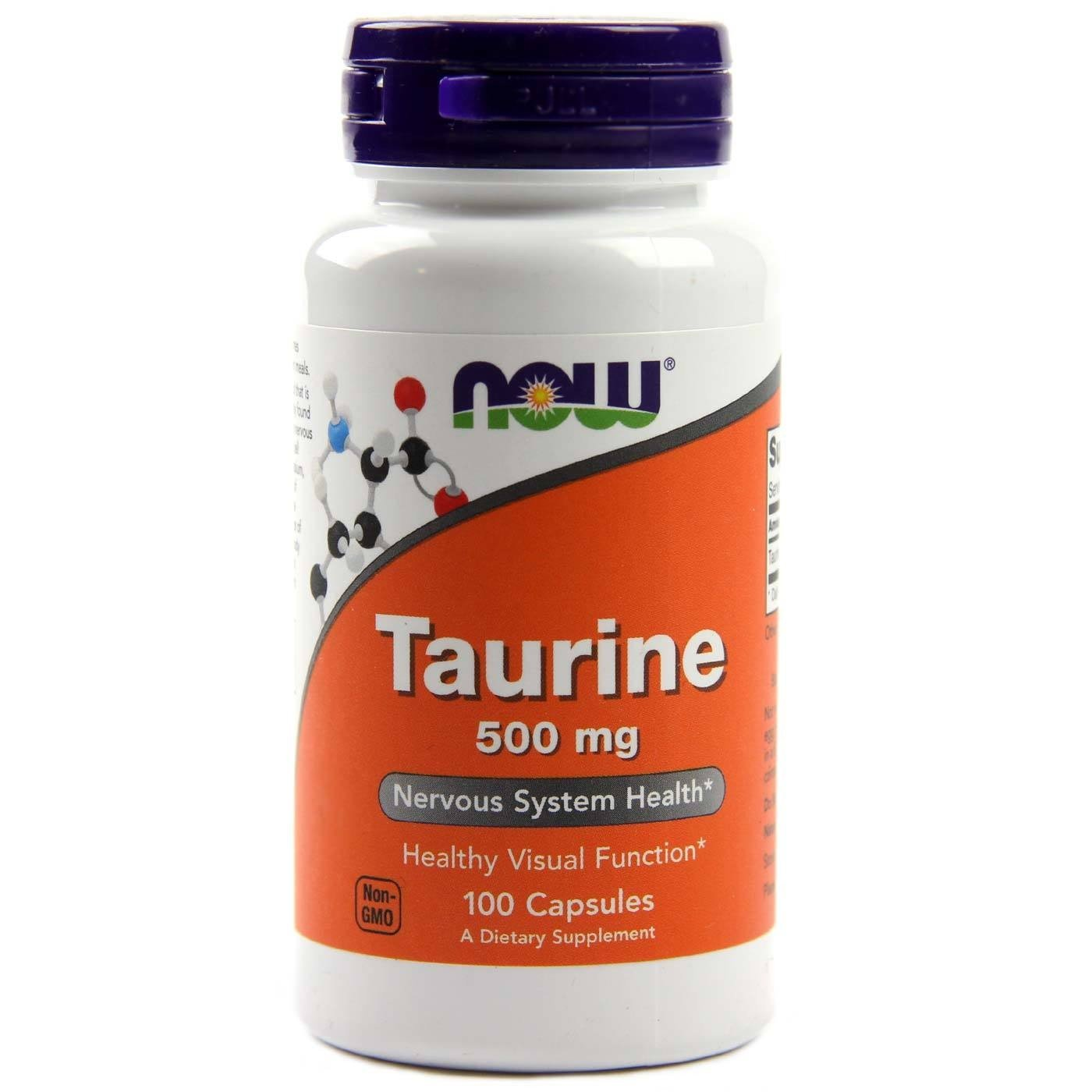 NOW FOODS TAURINE 500MG - 100 KAP