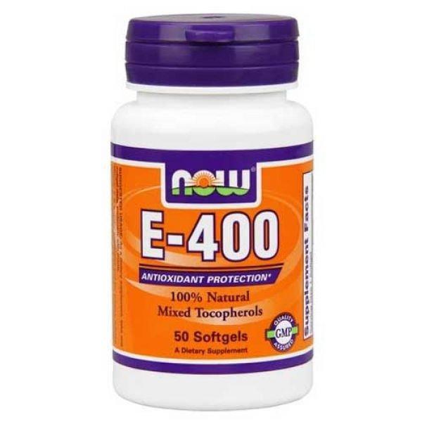 NOOW FOODS NATURAL E-400 100 KAPS.