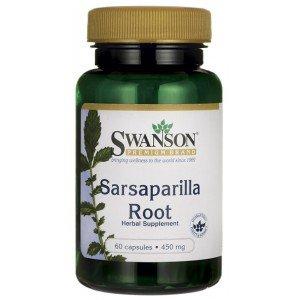 SWANSON, Sarsaparilla Root, 450mg, 60kap.