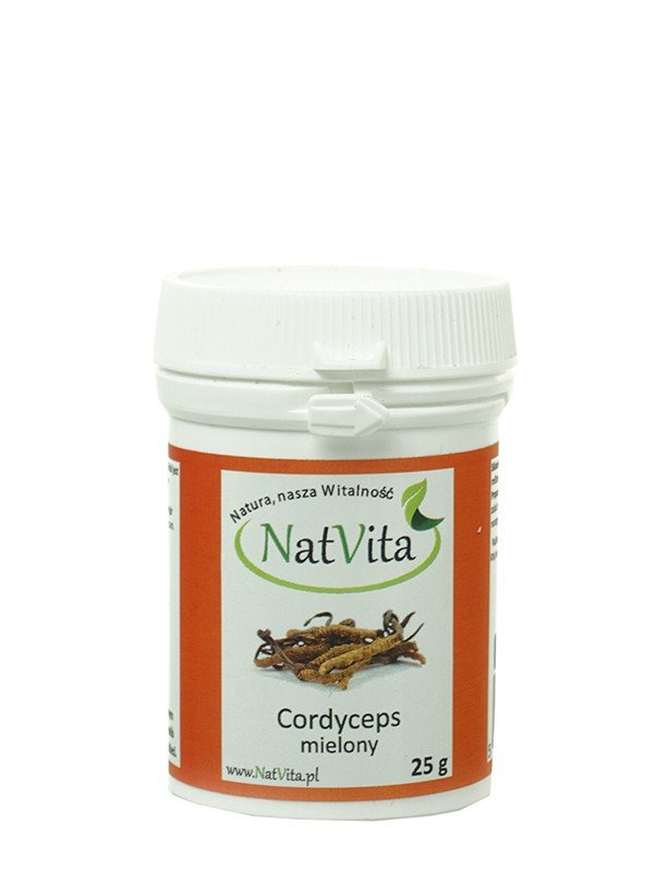 NATVITA, Bio cordyceps mielony 25g.